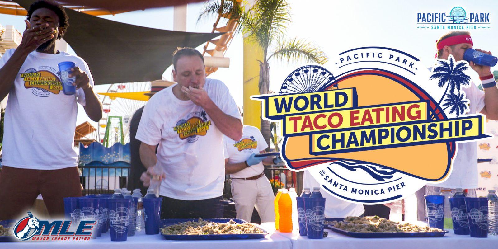 World Taco Eating Championship on the Santa Monica Pier