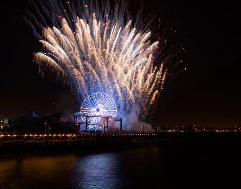 Fireworks Santa Monica Pier