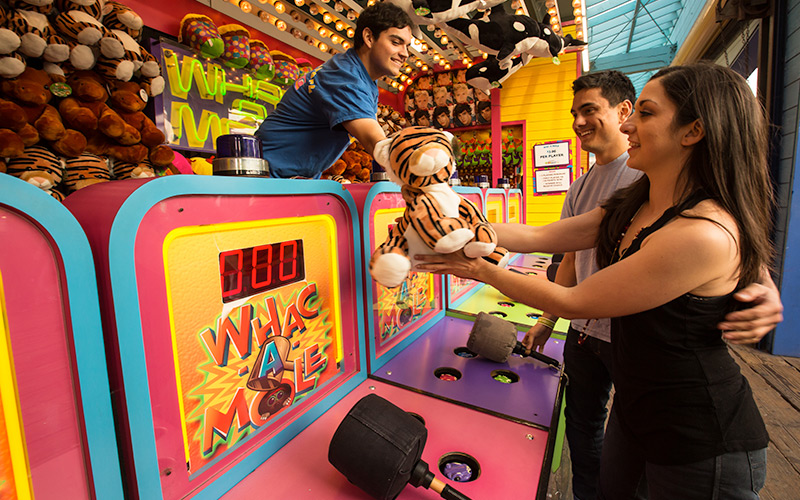 Whac-a-mole on the Santa Monica Pier