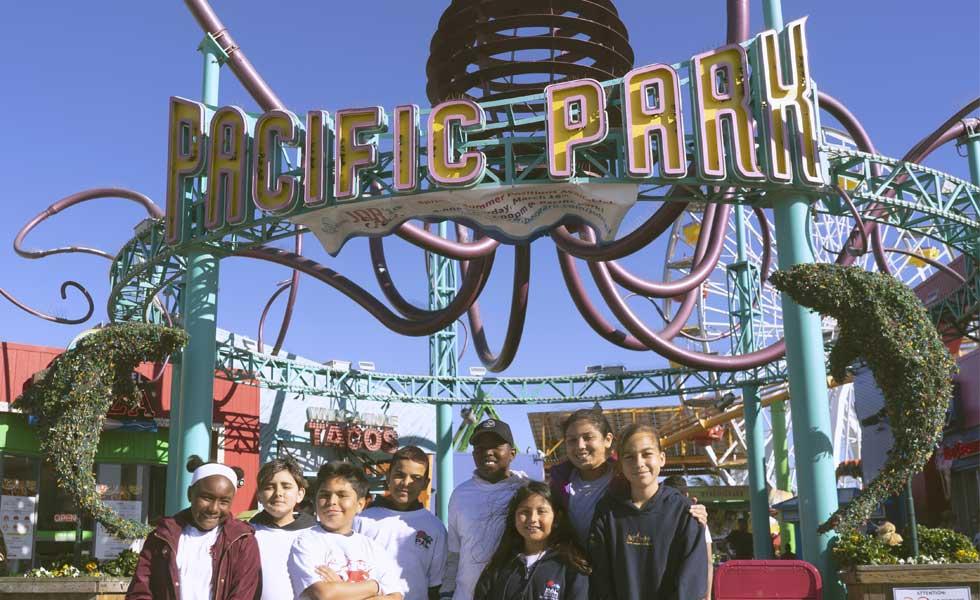Pal group visit to Pacific Park Santa Monica Pier