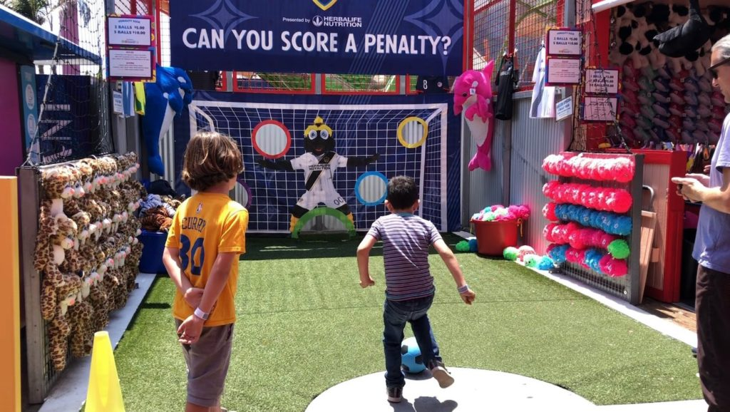 LA Galaxy Penalty Kick Game on the Santa Monica Pier