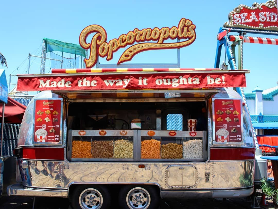 Popcornopolis Airstream on the Santa Monica Pier