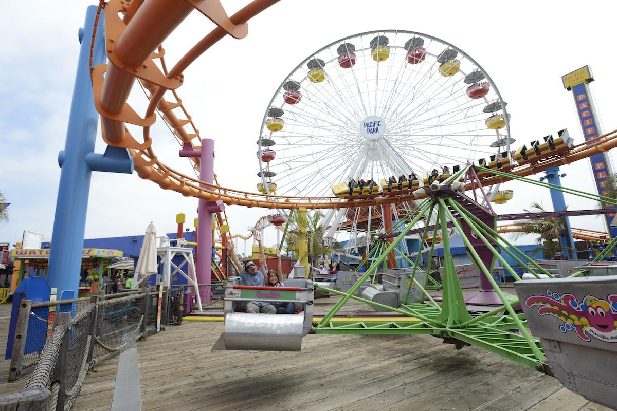 Scrambler ride on the Santa Monica Pier