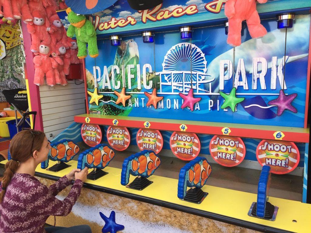 Starfish Water Race Game on the Santa Monica Pier