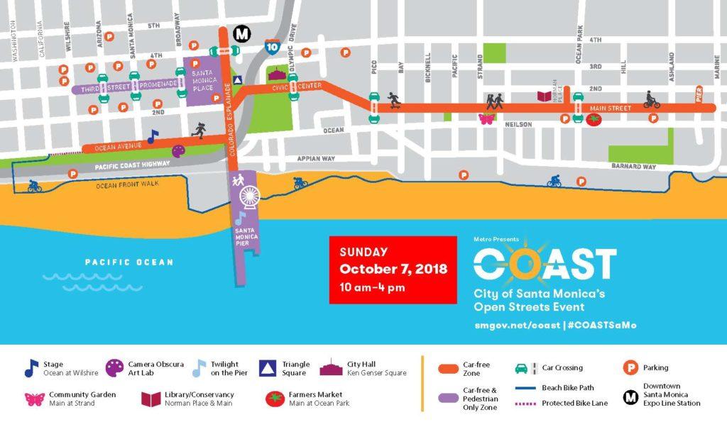 COAST Route Map 2018