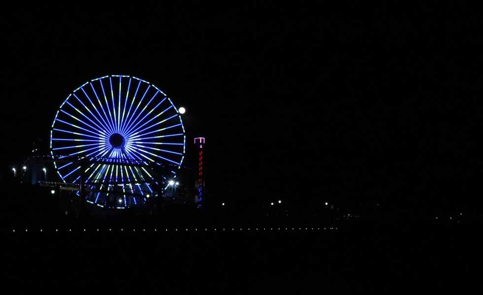LA Galaxy Logo on the Pacific Wheel