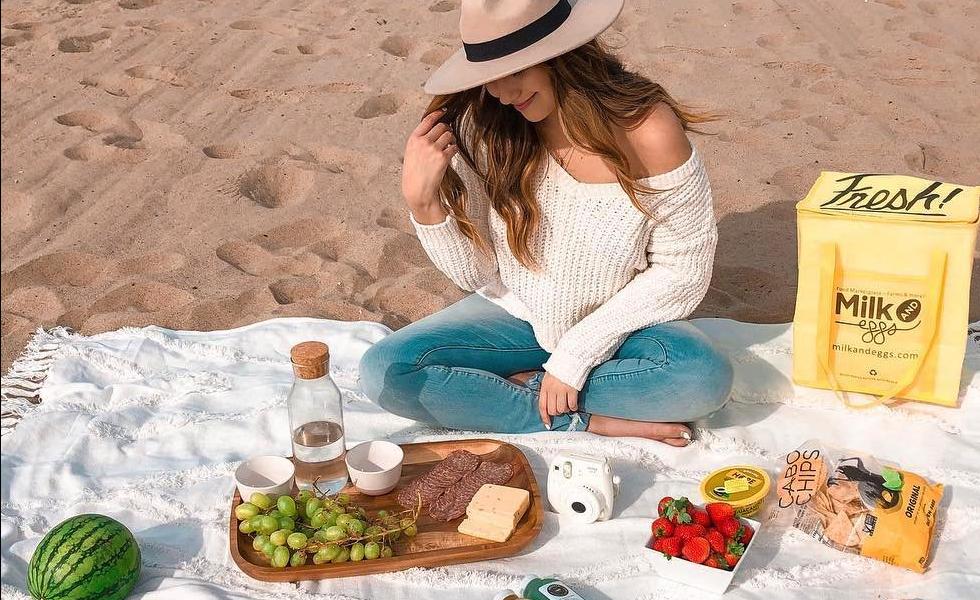 Perfect beach picnic