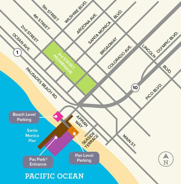 Santa Monica Pier Parking Map