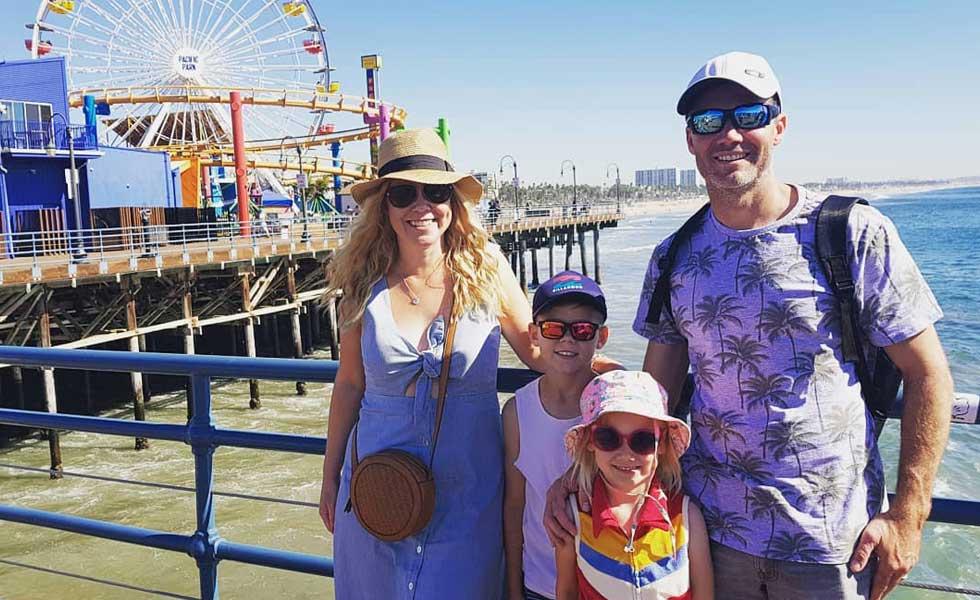 Family Spring Break at the Santa Monica Pier