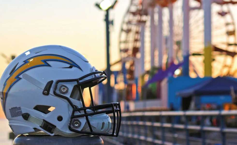La Chargers NFL Draft Party on the Santa Monica Pier