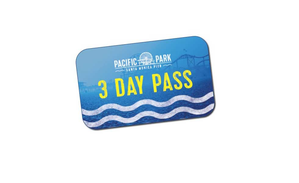 Pacific Park on the Santa Monica Pier three day pass