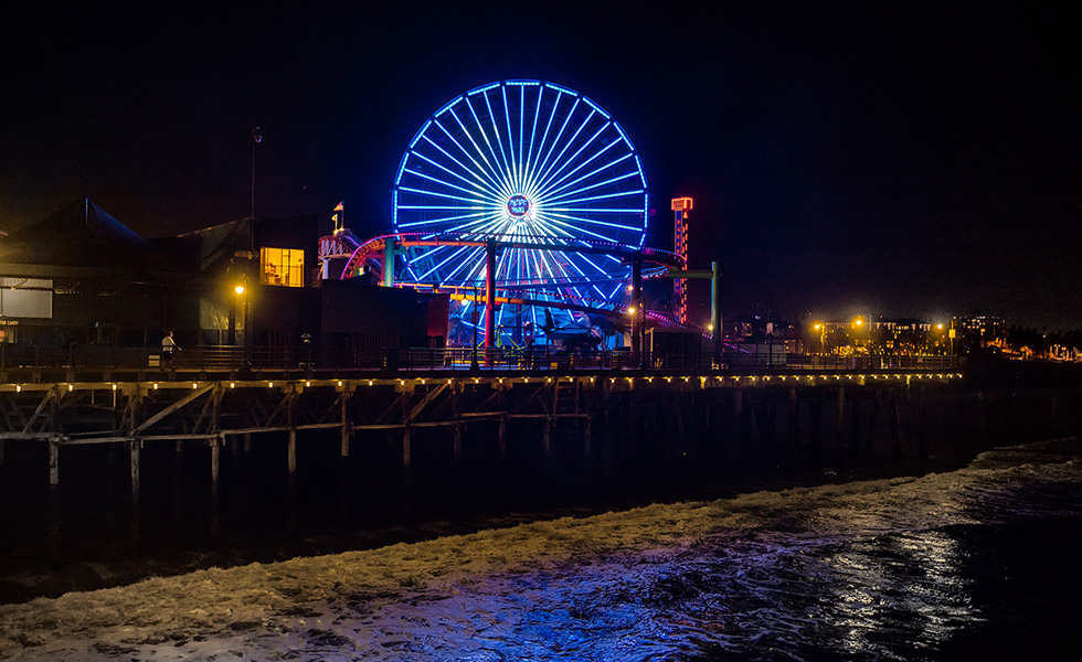 Pacific Wheel lights change color blue Dodgers