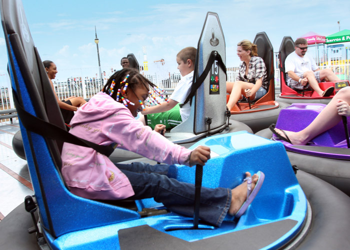 Bumper cars on the Santa Monica Pier