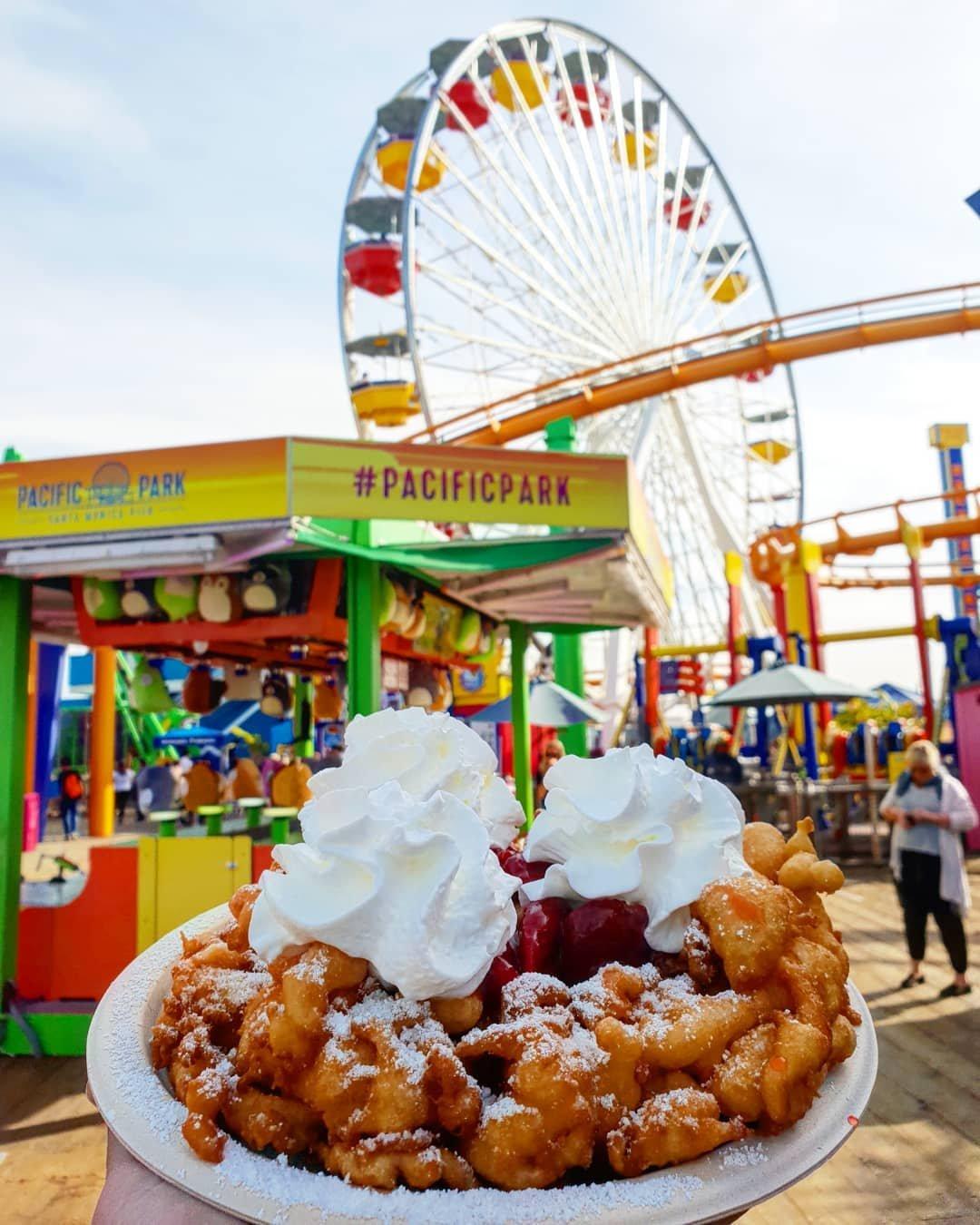 Funnel Cakes on the Santa Monica Pier