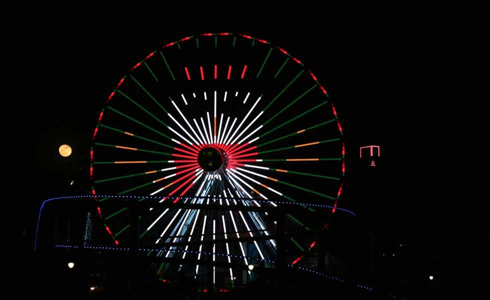 Snowman on Ferris wheel