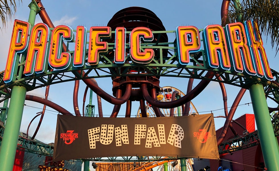 Stranger Things Fun Fair at Pacific Park Santa Monica Pier