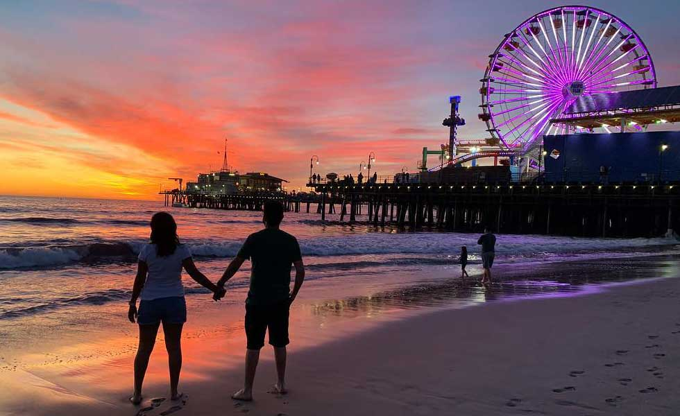Valentine's Day at Santa Monica Pier