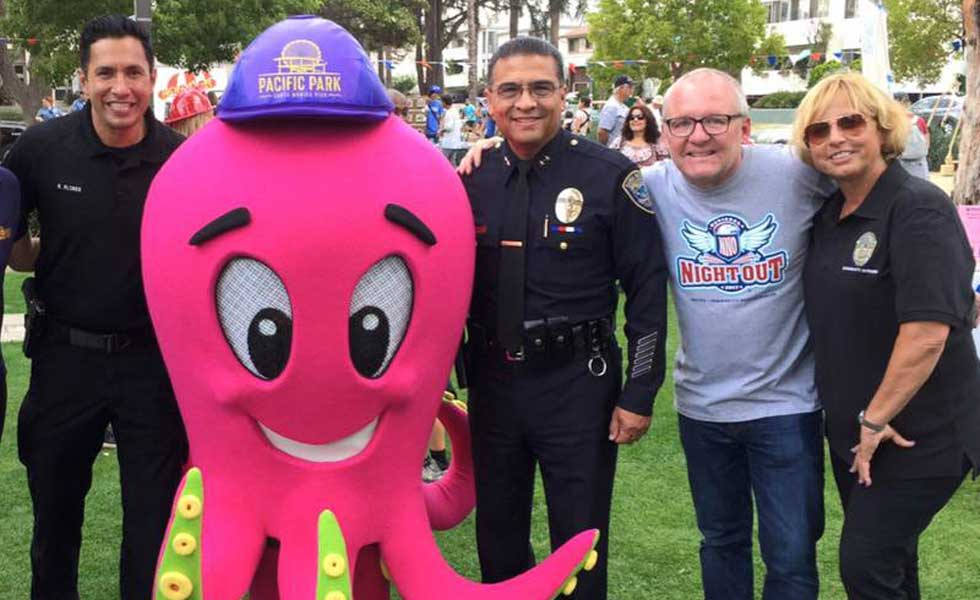 Santa Monica Pier supports National Night Out