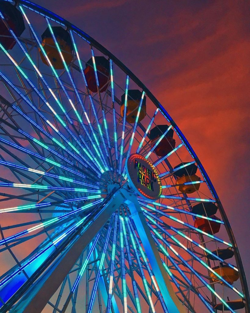Gender Reveal on the Santa Monica Pier Ferris Wheel