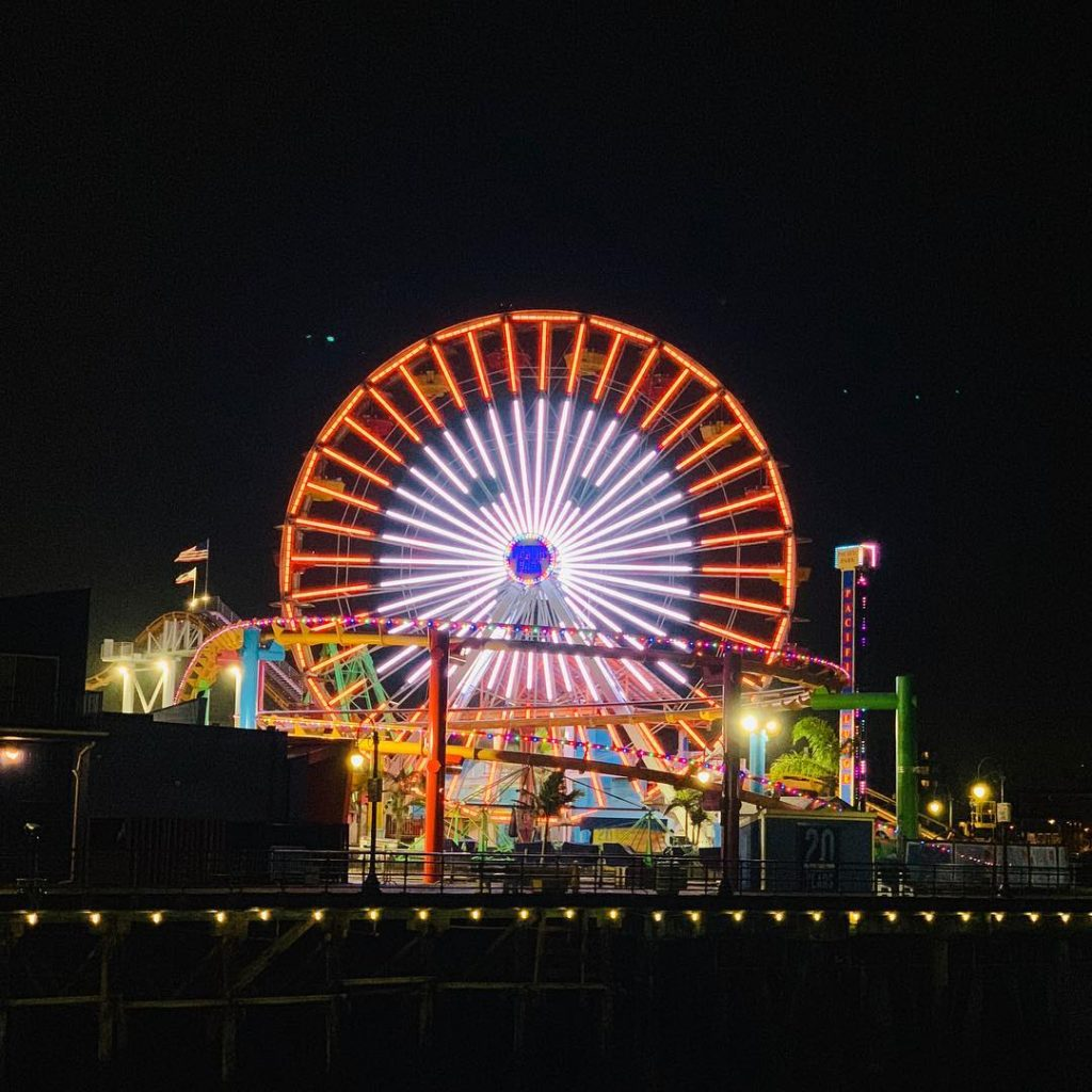 Ghost on the Santa Monica Pier Ferris Wheel