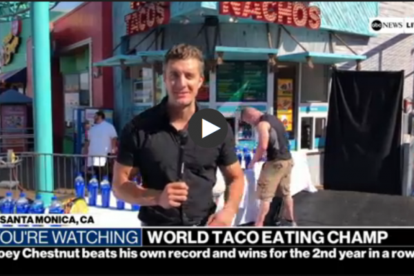 ABC News at the Pacific Park World Taco Eating Championship 2019