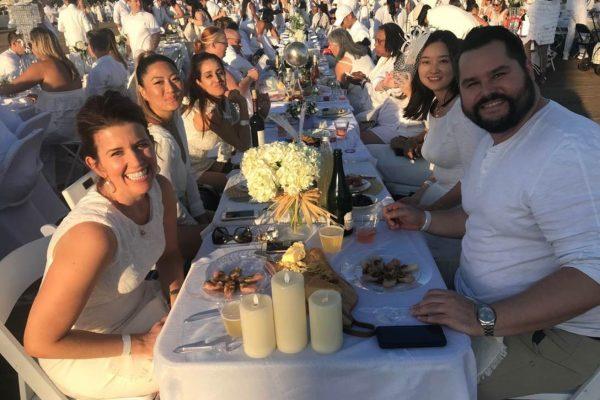 Le Diner en Blanc on the Santa Monica Pier