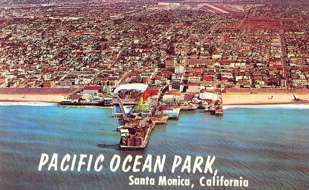 Aerial view of Pacific Ocean Park