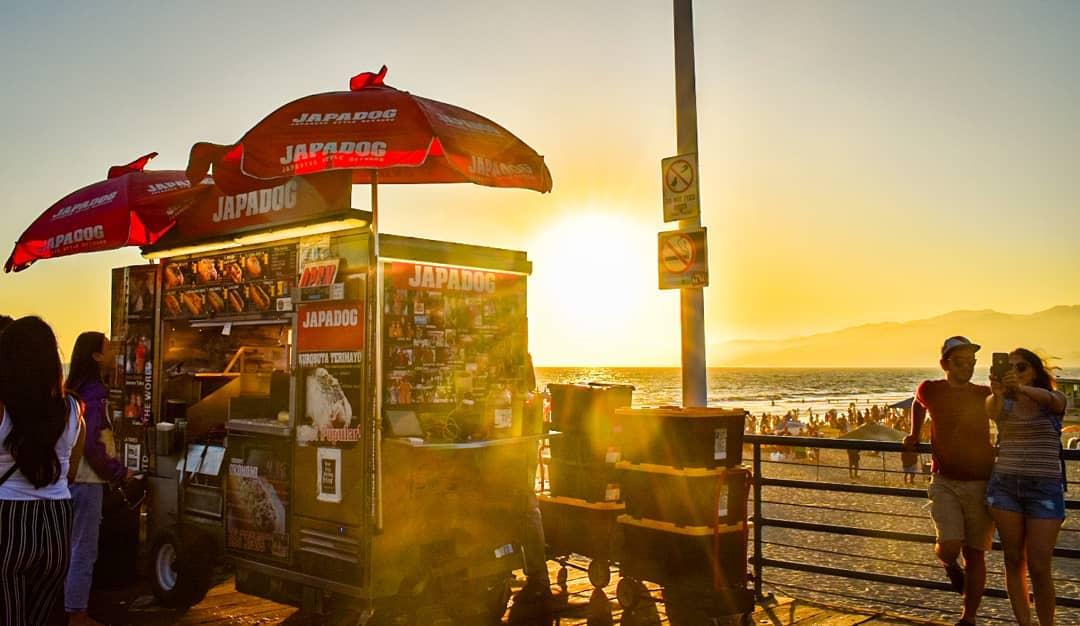 Japadog on the Santa Monica Pier