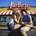 Couple outside Pier Burger