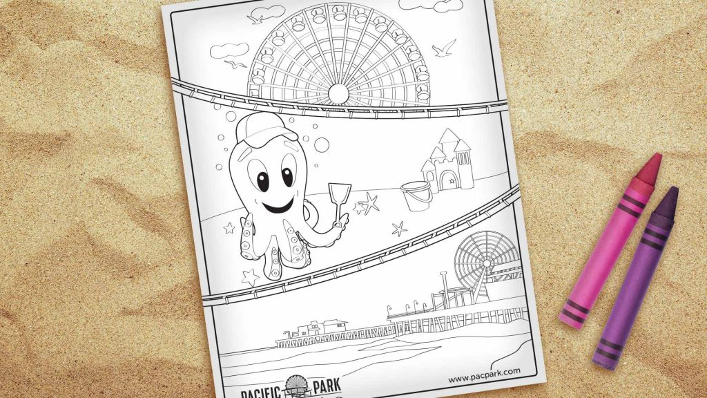 Pacific Park Coloring Page Download