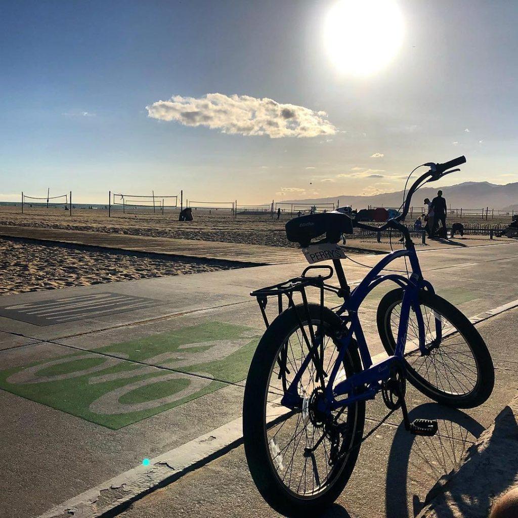 Bike on the Santa Monica beach bike path