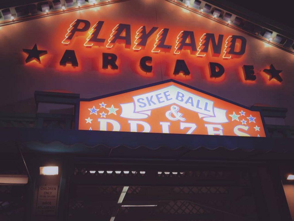 Playland Arcade Sign on the Santa Monica Pier
