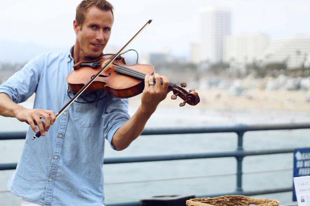 Violist on the Santa Monica Pier
