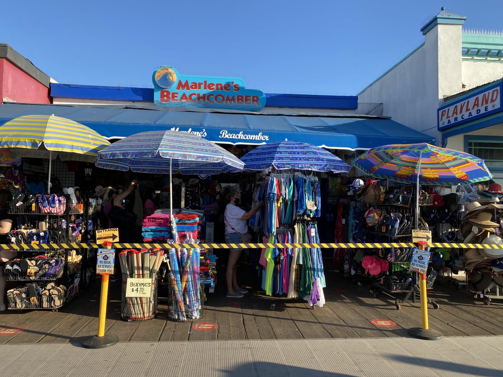 Exterior of Marlene's Beachcomber shop
