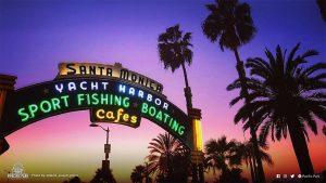 Santa Monica Pier sign