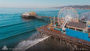 Aerial view of the Santa Monica Pier