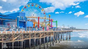 South view of Pacific Park on the Santa Monica Pier