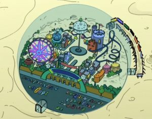 Luna Park from Futurama