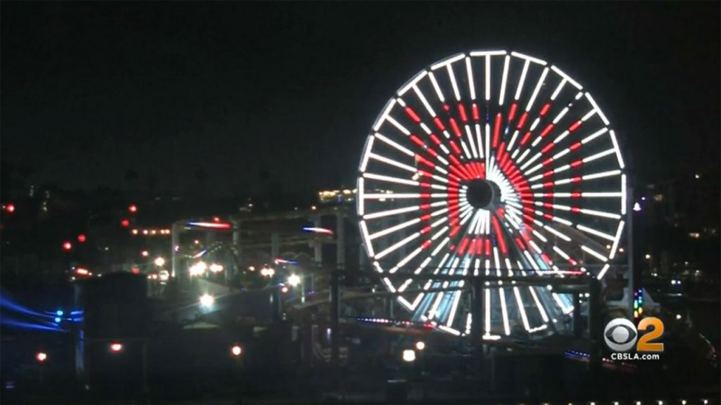 Wedding Proposal on the Santa Monica Pier Ferris Wheel