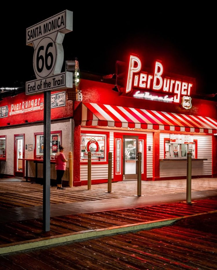 Pier Burger on the Santa Monica Pier