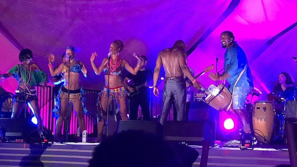 Fela! The Concert performing at The Twilight Concert Series in Santa Monica in 2018 - photo by @alliszo