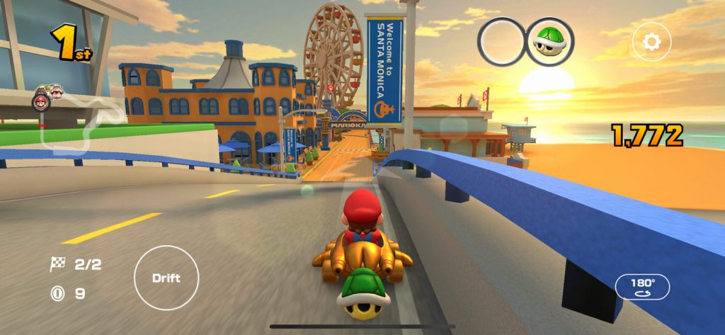 Santa Monica Pier bridge in Mario Kart Tour