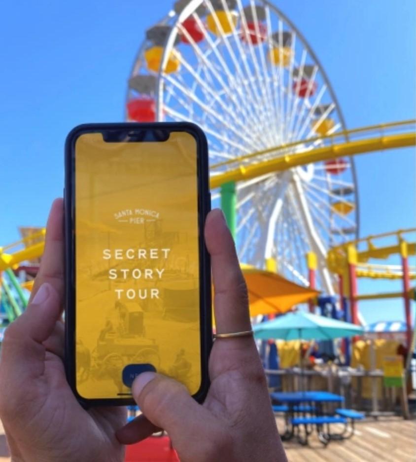 Secret Story Tour App on Phone Screen