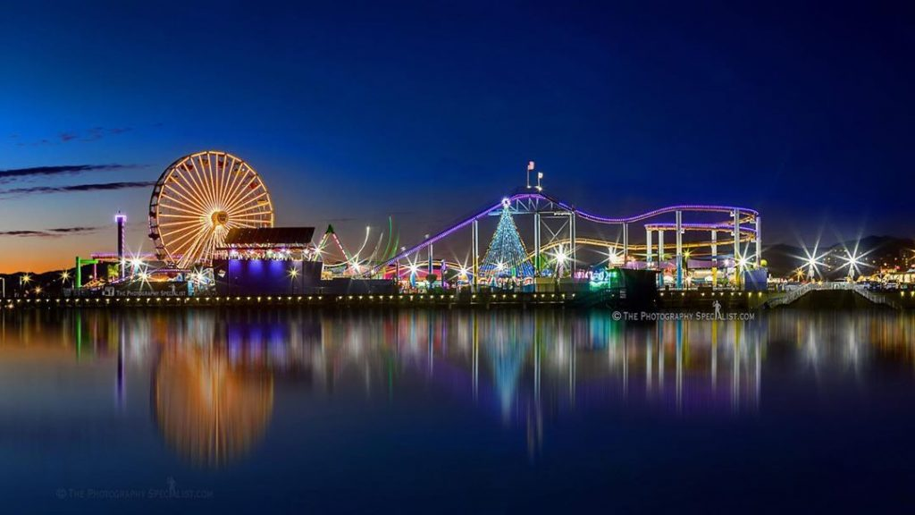 Holiday events at the Santa Monica Pier include special lights at Pacific Park | photo by @tps_johntobin