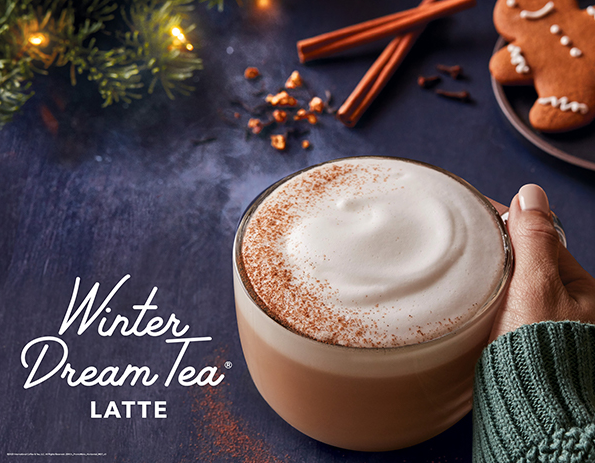 Winter Dream Tea Latte is one of the Coffee Bean & Tea Leaf's seasonal flavors. Pictured is a piping hot cup of this aromatic treat.