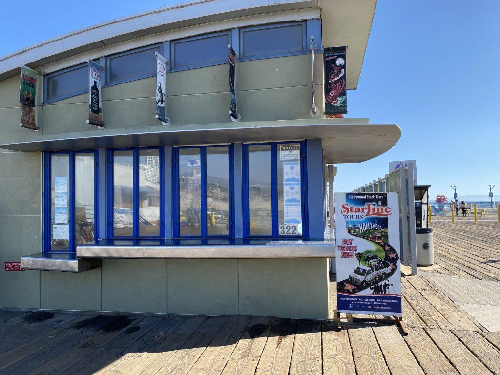 Starline Tours location on the Santa Monica Pier
