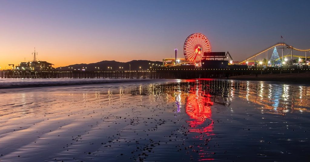 The Pacific Wheel at Sunset | Photo by @michael.lynch.photos