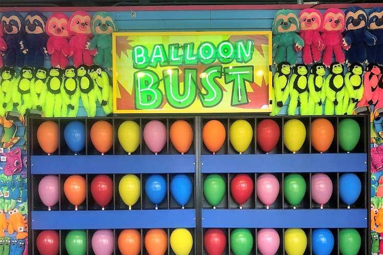 Balloon game on the Santa Monica Pier