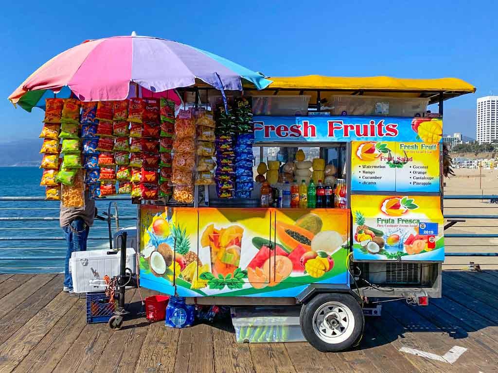 Fruit Cart on the Santa Monica Pier