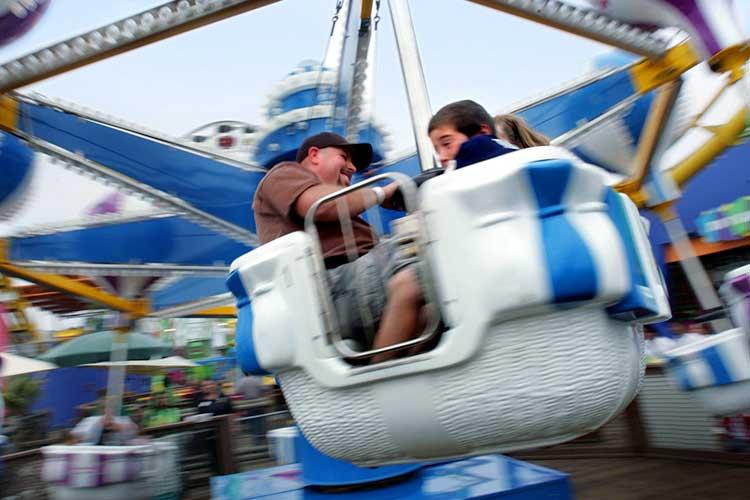 Air balloon kiddie ride on the Santa Monica Pier
